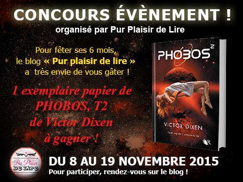 Concours 6 mois du blog - à gagner PHOBOS 2 de Victor Dixen